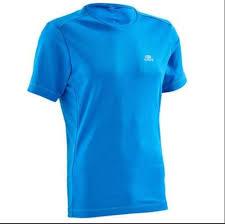 Decathlon Run Dry Men Running T Shirt Blue