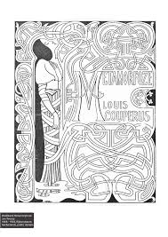 colorourcollections with an art nouveau colouring book