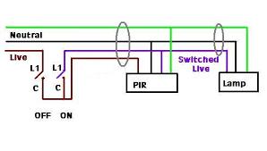 switch live pir diynot forums PIR Sensor Circuit Wiring Diagram For Pir Sensor #36
