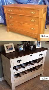 repurpose old furniture. Dresser To Wine Rack DIY Repurpose Old Furniture