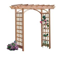 garden arbor lowes. Contemporary Lowes Garden Architecture 68ft W X 73ft H Natural Arbor Throughout Lowes E