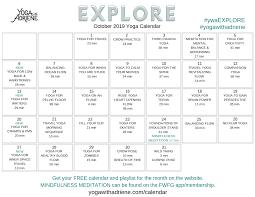 Free Clander October 2019 Yoga Calendar Explore Yoga With Adriene