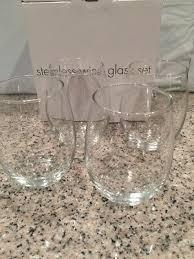 15 oz stemless white restaurant style wine glasses set of 4