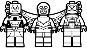 Lego Marvel Colouring Pages Free With Super Heroes Coloring Page