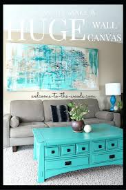 how to make a huge wall canvas for decor in your living room this decor from a curtain panel and old 2 x 4 wood large decorative wall clocks australia large