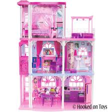 Barbie 3-Story Dream Town House 55+ Pieces w/ Furniture & Lights - Mattel  N7666 | eBay