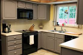 Painted Grey Kitchen Cabinets