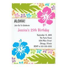 Hawaiian Luau Party Invitation Zazzle Com