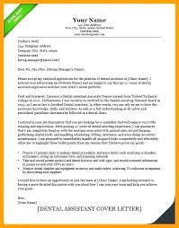 Cover Letters For Dental Assistant Resume Dental Assistant Objective Assisting Cover Letter For