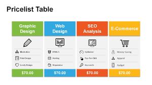 Price Chart Template Price Table PowerPoint Templates PowerSlides 17