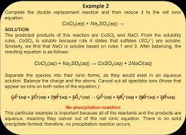 practice problems write the net ionic equation