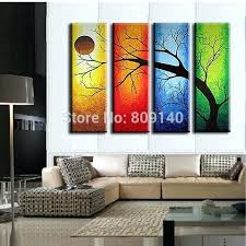 wall art for home office. Framed Office Art Stretched Abstract Landscape Oil Painting Handmade Modern Home Hotel Wall . For