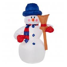 Надувная <b>фигура NEON</b>-<b>NIGHT</b> Снеговик с метлой 120см ...
