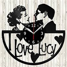 i love lucy personality vinyl disc wall clock quartz clock simple home decoration creative crafts gift living room art decoration large decorative wall