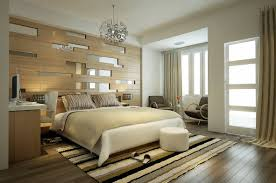 trendy bedroom decorating ideas home design: modern stripes bedroom decoration idea source home designingcom