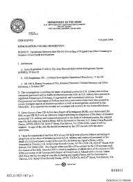 Army Memo Re: Operational Memorandum 006-04, Forwarding Of Original ...