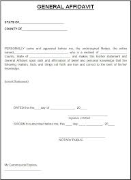 Samples Of Notary Letters Free Affidavit Form Template