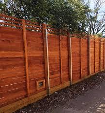 horizontal wood fence. Exellent Fence Horizontal Wood Fences With Fence