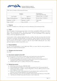 Company Training Manual Template Procedures Unique Sop Free Gallery ...