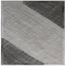 slant border basket weave rug