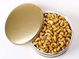 jumbo cashews gift tin 2 lbs