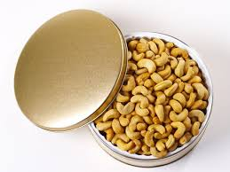 jumbo cashews gift tin 2 lbs