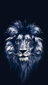 Lion face art iphone wallpaper
