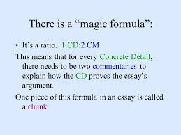 essay writing basics learning how to make and win an argument there is a magic formula it s a ratio
