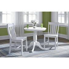 international concepts pure white round pedestal dining table