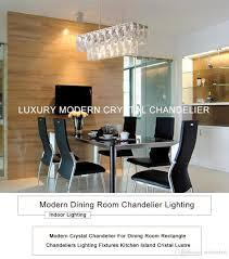 Großhandel Moderne Kristallleuchter Rechteck Esszimmer Leuchten Luxus Küche Insel Led Lüster De Cristal Pendelleuchte Von Zidoneled 36443 Auf