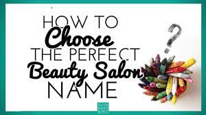 beauty salon name