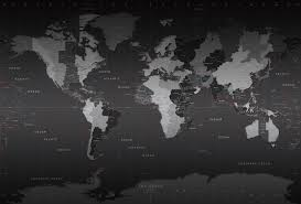 world time zones wall map mural