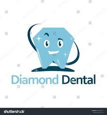 Diamond Smile Design Smile Diamond Dental Care Clinic Logo Stock Vector Royalty