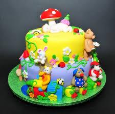Baby Animals Kids Birthday Cakeanimal Theme Cake Zoo Animal Cake