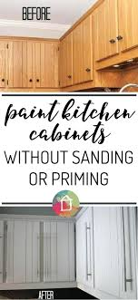 refinishing kitchen cabinets without stripping how to paint kitchen cabinets without sanding or priming best way