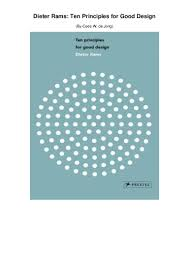 Dieter Rams Ten Principles For Good Design Book Pdf Skyrocket Dieter Rams Ten Principles For Good Design Ebook