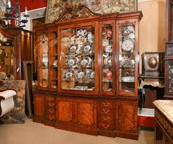 Chippendale China Cabinet English Chinese Chippendale Style Break Front Display Cabinet At