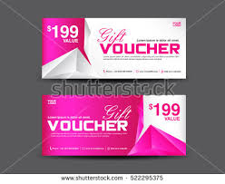 coupon design gift voucher template coupon design pink stock vector 522295375