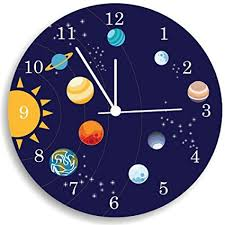 The Solar System Wall Clock, Kids Bedroom Wall Clock, Space Room Decor