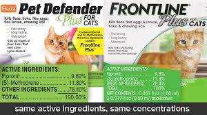 frontline plus ingredients. Pet Defender Plus For Cats Vs Frontline Ingredients