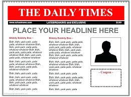 Newspaper Google Docs Template Student Newspaper Template Google Doc Classroom Newsletter
