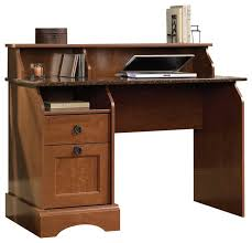 sauder graham hill desk in autumn maple transitional desks and hutches