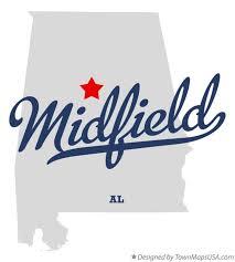 Map of Midfield, AL, Alabama