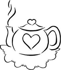 Small Picture Sketching A Simple Teacup Teapot Template and Embroidery
