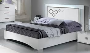 Bed With Lights Juliette White Gloss Double Bed With Optional Led Lights