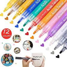 <b>12 PCS Acrylic</b> Paint Marker Pens, Acrylic Paint Pens for Stone ...