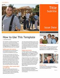 Newspaper Template For Microsoft Works Newsletter