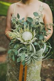King protea is the main attraction here, supplemented by an impressive air  plant and full cluster of seeded eucalyptus. Kelsy loves this natural and  ...