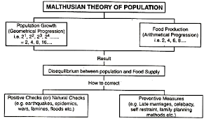 malthusian theory of population diagram  malthusian theory of population