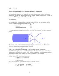 Solid Fuel Rocket Engine Design 16 50 Lecture 9